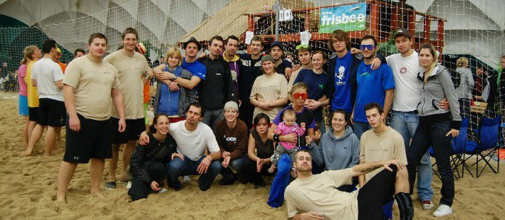 Hosts of a frisbee ultimate beach  indoor  tournament in Bratislava